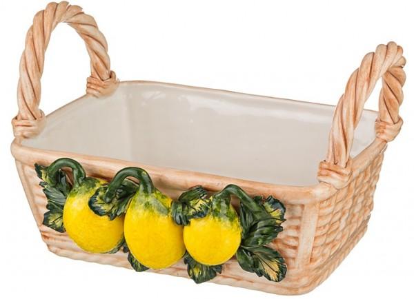 Корзина декоративная «Лимоны»