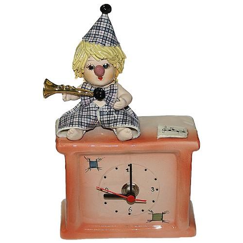 """Часы  """"Клоун с трубой"""""""