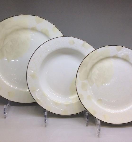 Набор тарелок «Бежевая роза»