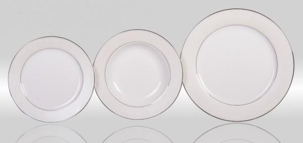 Набор тарелок «Серый шелк»